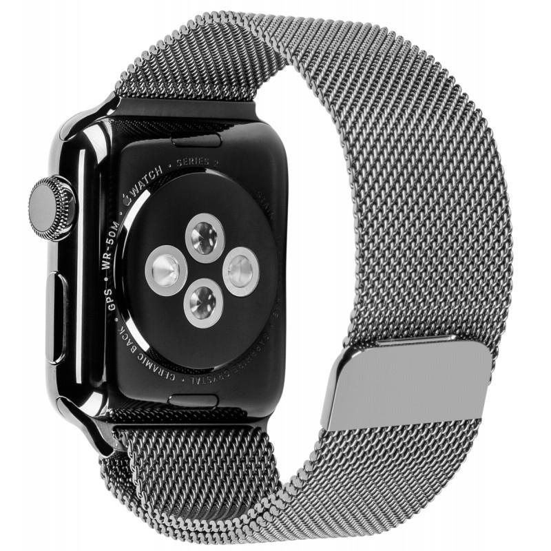 Apple Watch 2 42mm Steel Case With Space Black Milanese Loop