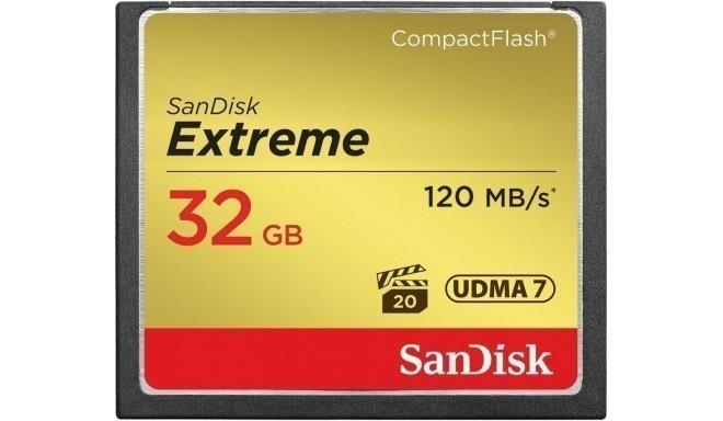 SanDisk memory card CF 32GB Extreme 120MB/s
