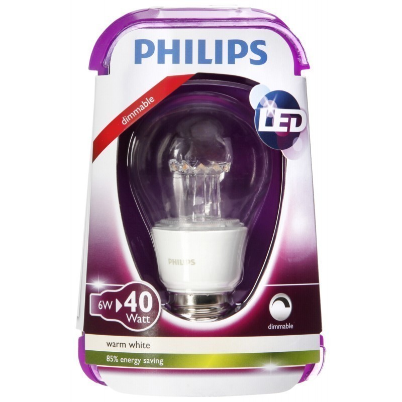 philips led lamp e27 6w 2700k 76246100 led lamps. Black Bedroom Furniture Sets. Home Design Ideas