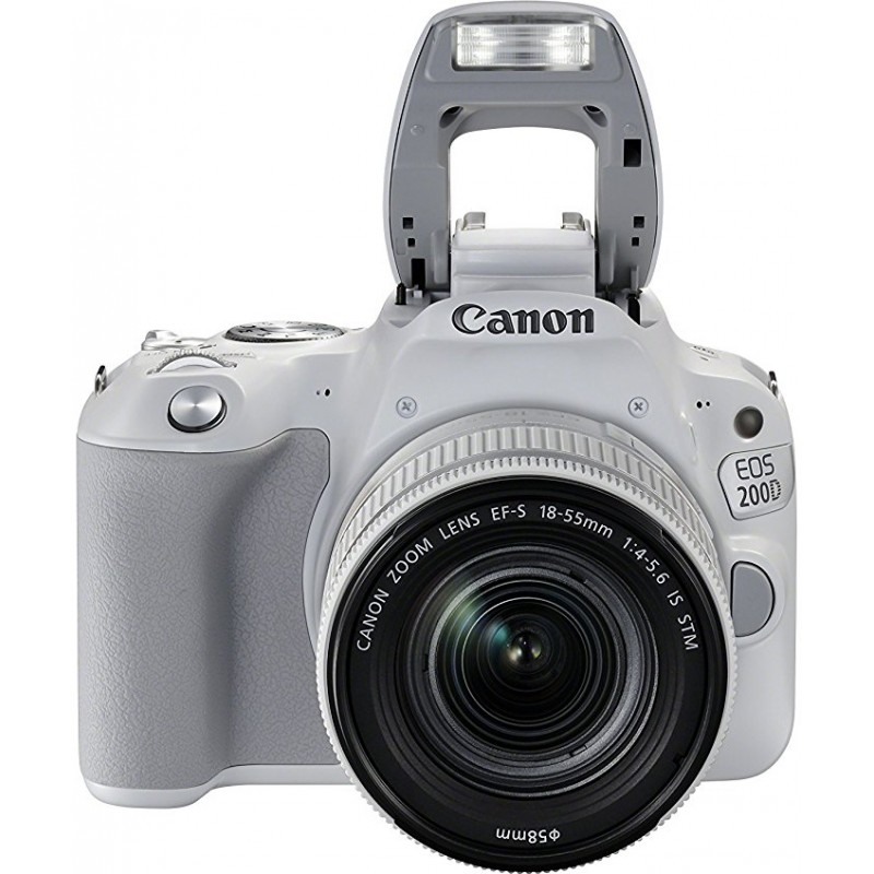 Canon EOS 200D + 18-55mm IS STM, white