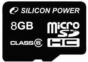Silicon Power mälukaart microSDHC 8GB Class 6 + ..