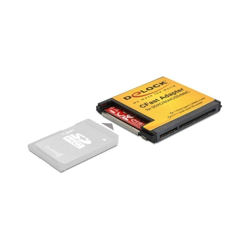 DELOCK CFAST ADAPTER FOR SD MMC MEMORY CARDS