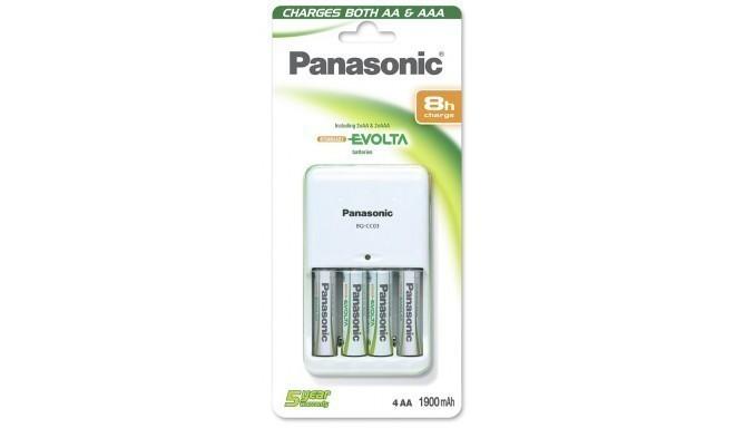 Panasonic battery charger BQ-CC03 + 4×1900