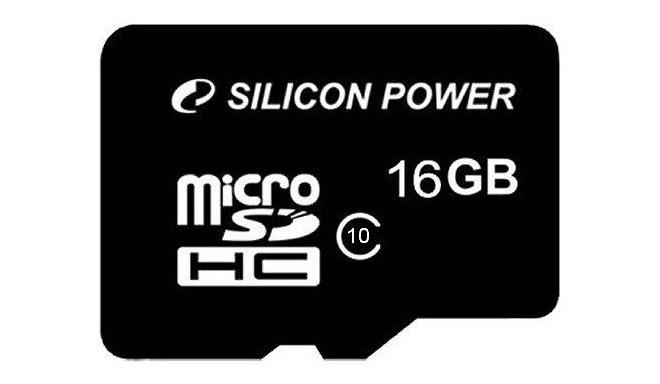 Silicon Power mälukaart microSDHC 16GB Class 10