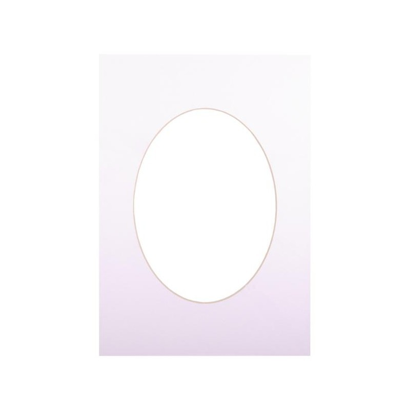 Passepartout 15×21, ultra white oval