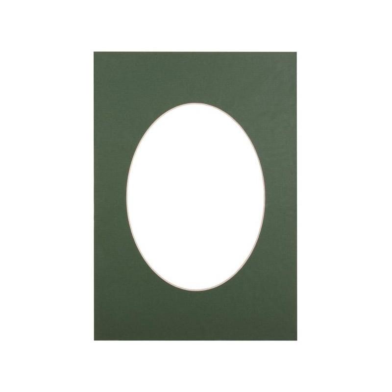 Passepartout 15×21, green oval