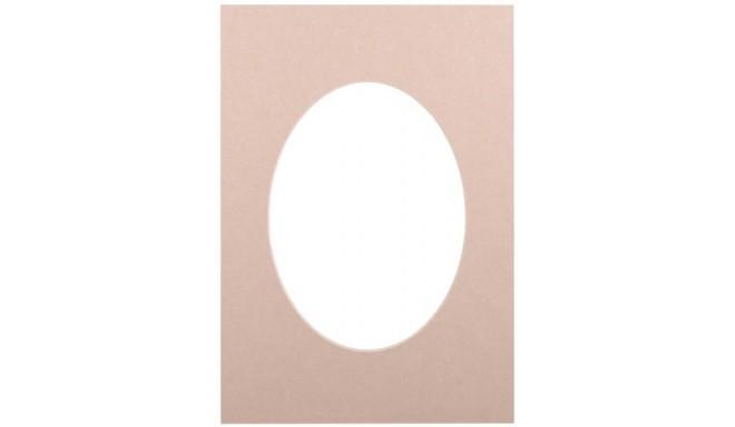 Passepartout 21x29.7, beige oval
