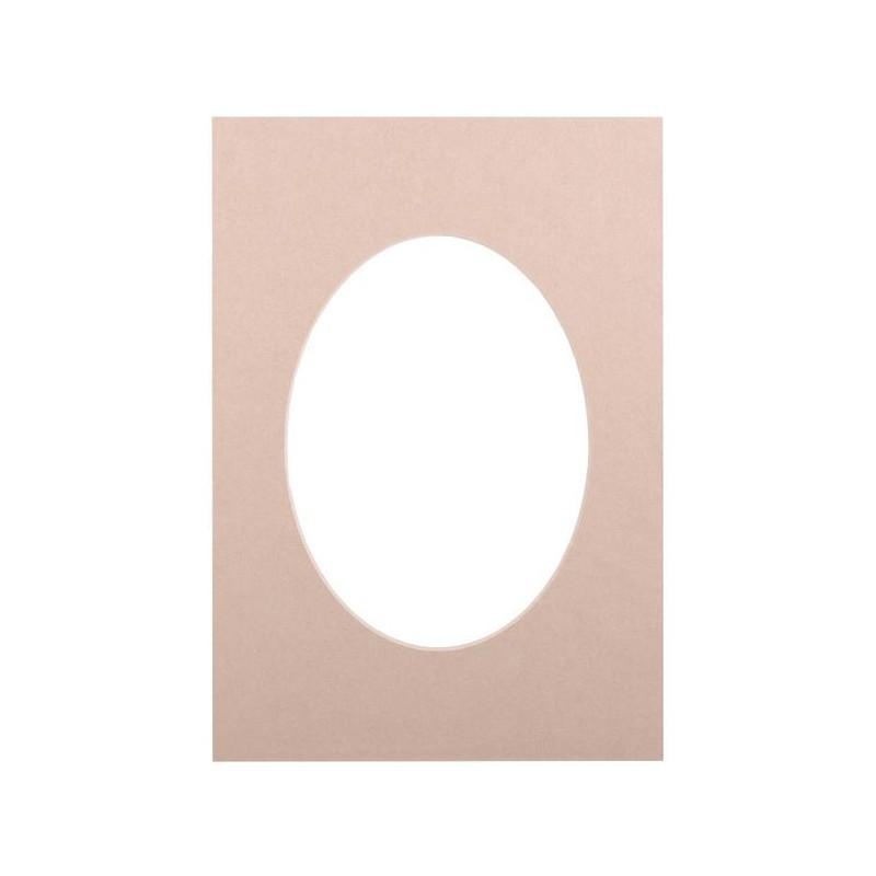 Passepartout 21×29.7, beige oval