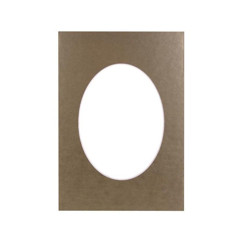 Paspartuu 30×40, kuldne ovaal