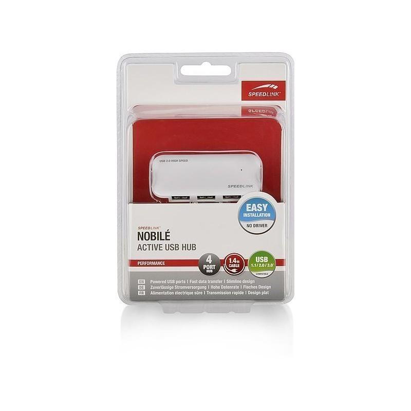 Speedlink USB HUB Nobile 4-port SL7416, valge
