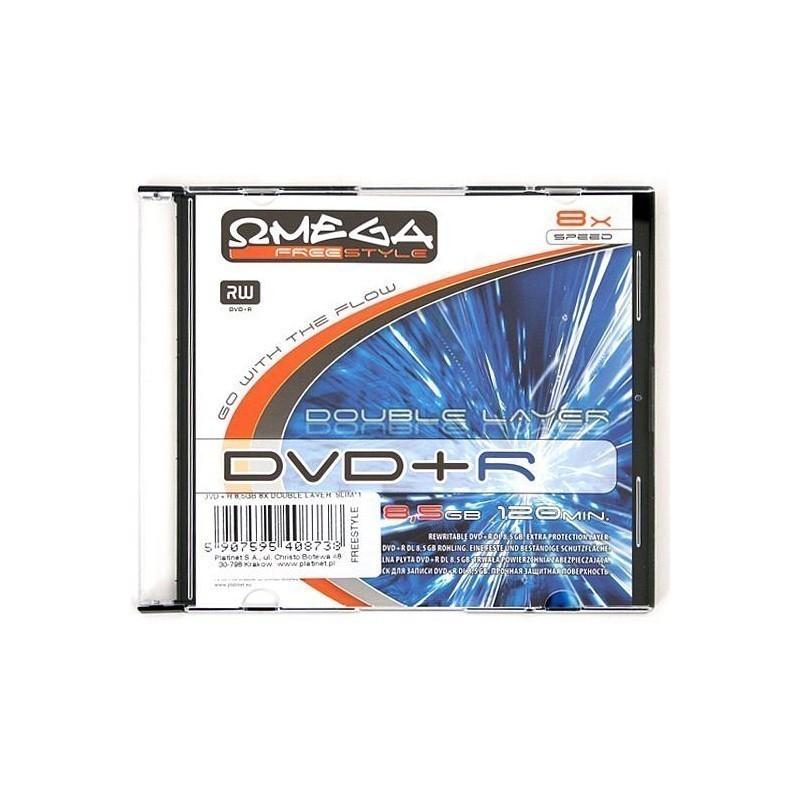 DVD+R Omega Freestyle Dual Layer Printable Slim
