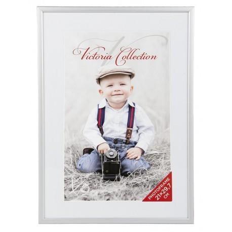 Photo frame Aluminium 21x30, silver matte