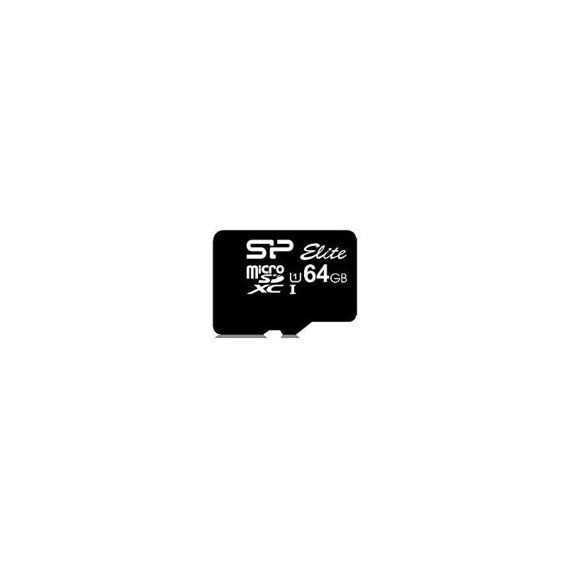 Silicon Power mälukaart microSDXC 64GB Elite + adapter