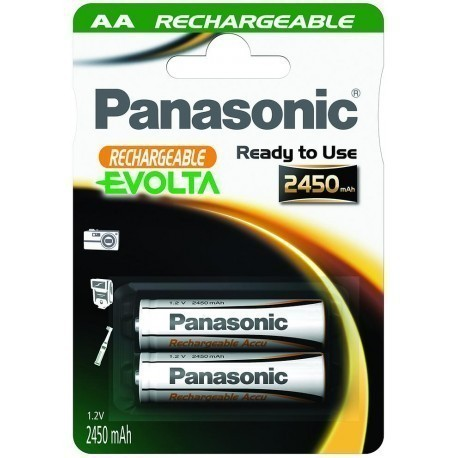 Panasonic Evolta rechargeable battery AA 2450mAh P-6E/2B