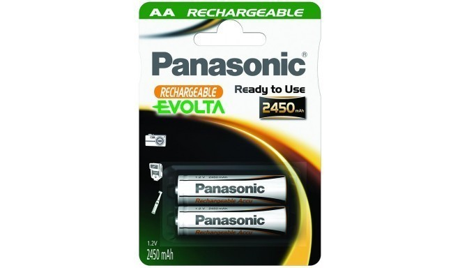 Panasonic Evolta аккумуляторные батарейки AA 2450mAh P-6E/2B