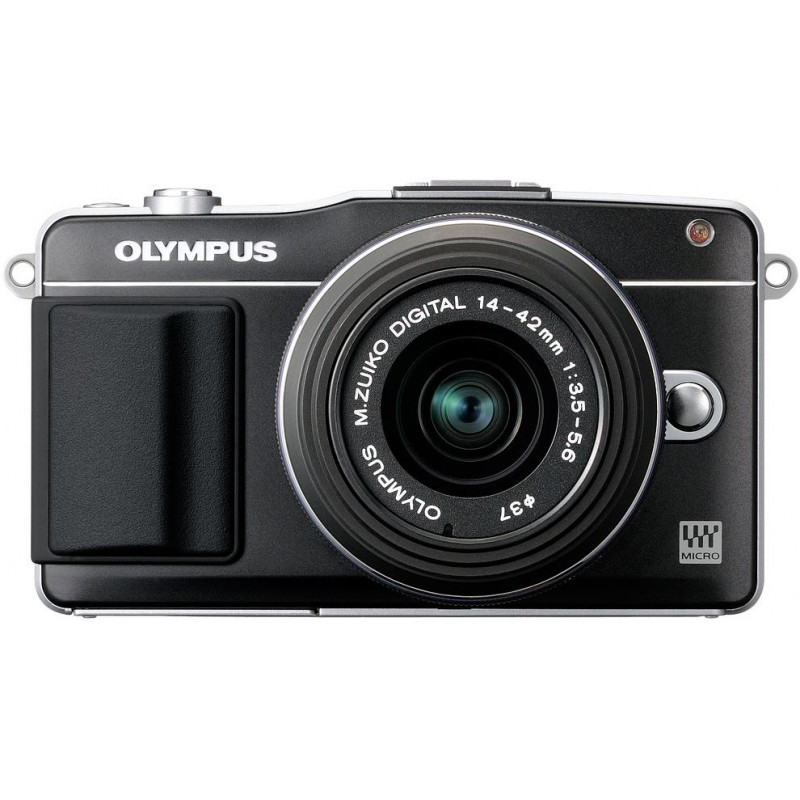 Olympus PEN Mini E-PM2 + 14-42 мм II Kit чёрный