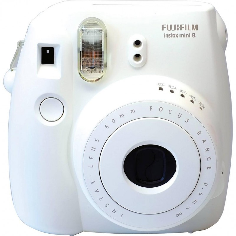 fujifilm instax mini 8 white instant cameras photopoint. Black Bedroom Furniture Sets. Home Design Ideas