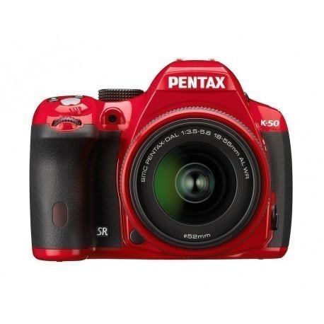 Pentax K-50 + 18-55mm WR Kit, punane