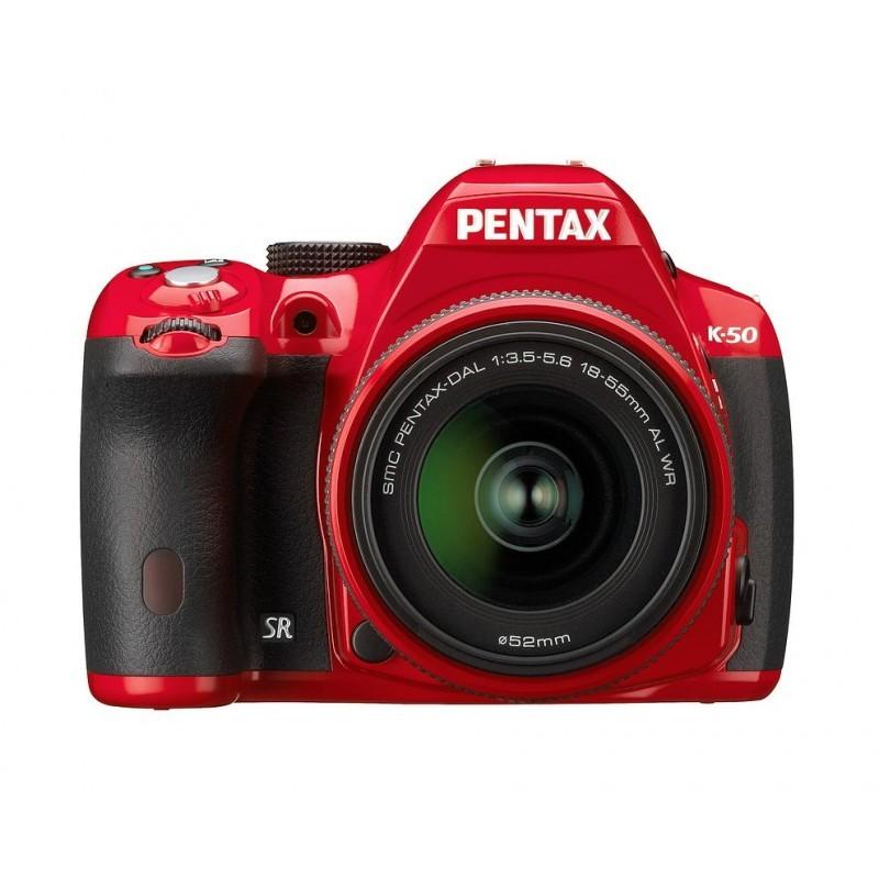 Pentax K-50 + 18-55мм WR Kit, красный
