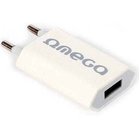 Omega vooluadapter USB 1000mA (41492)