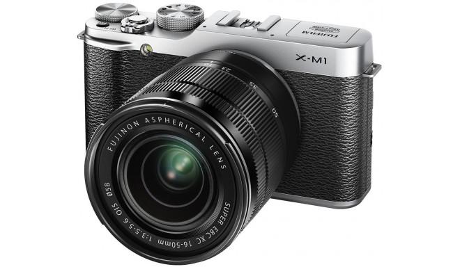 Fujifilm X-M1 + 16-50mm, hõbedane