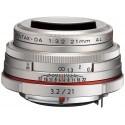 HD Pentax DA 21mm f/3.2 AL Limited hõbedane objektiiv
