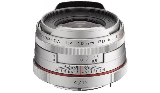 HD Pentax DA 15mm f/4 ED AL Limited objektiiv, hõbedane