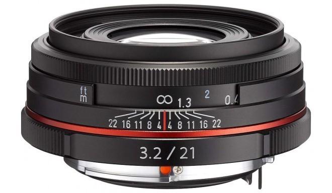 HD Pentax DA 21mm f/3.2 AL Limited objektīvs, melns