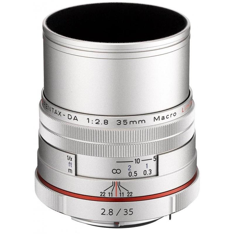 HD Pentax DA 35mm f/2.8 Macro Limited hõbedane objektiiv