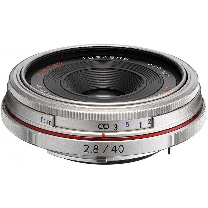 HD Pentax DA 40mm f/2.8 Limited objektiiv, hõbedane