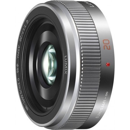 Panasonic Lumix G 20mm f/1.7 II ASPH objektīvs, sudrabots