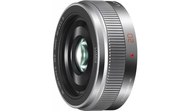 Panasonic Lumix G 20мм f/1.7 II ASPH объектив, серебристый