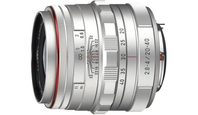 HD Pentax DA 20-40mm f/2.8-4.0 ED DC WR Limited objektiiv, hõbedane