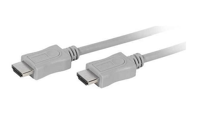 Vivanco kabelis Polybag HDMI - HDMI 1.5m, pelēks (45910)