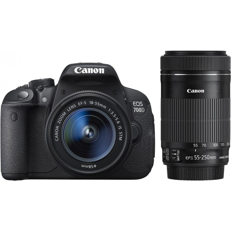 Canon EOS 700D + 18-55mm IS STM + 55-250mm STM Kit