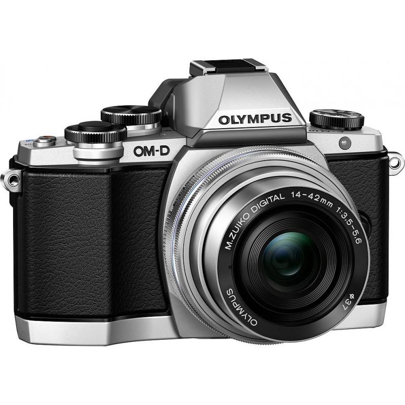 Olympus OM-D E-M10 + 14-42 EZ Kit, hõbedane