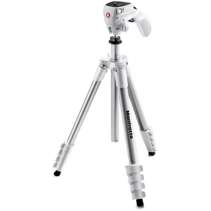 Manfrotto statiiv MKCOMPACTACN-WH, valge
