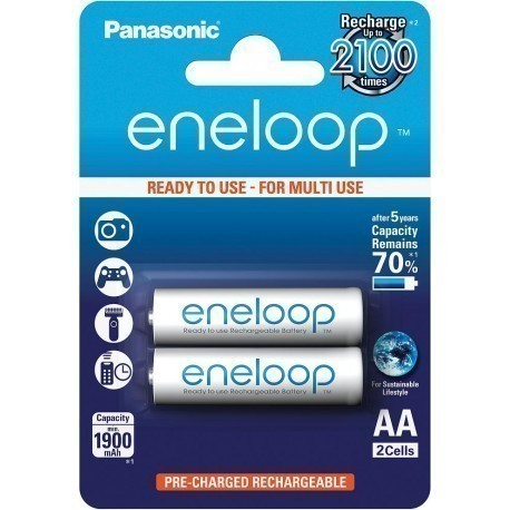 Panasonic eneloop rechargeable battery AA 1900 2BP
