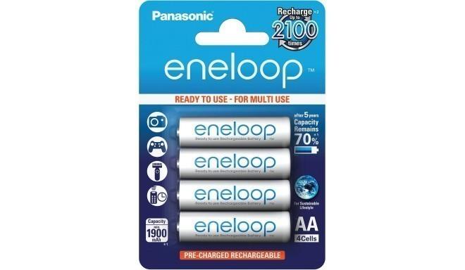 Panasonic eneloop аккумуляторные батарейки AA 1900 4BP