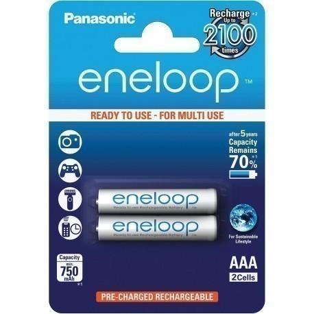 Panasonic eneloop аккумуляторные батарейки AAA 750 2BP