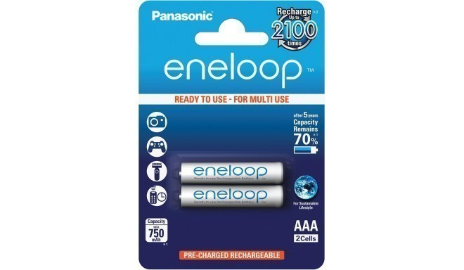Panasonic eneloop akumulators AAA 750 2BP