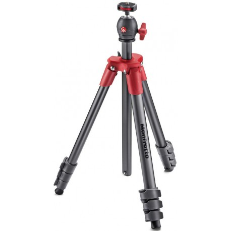 Manfrotto tripod MKCOMPACTLT-RD, red