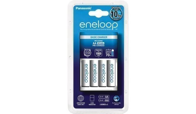 Panasonic eneloop зарядное устройство BQ-CC18 + 4x1900
