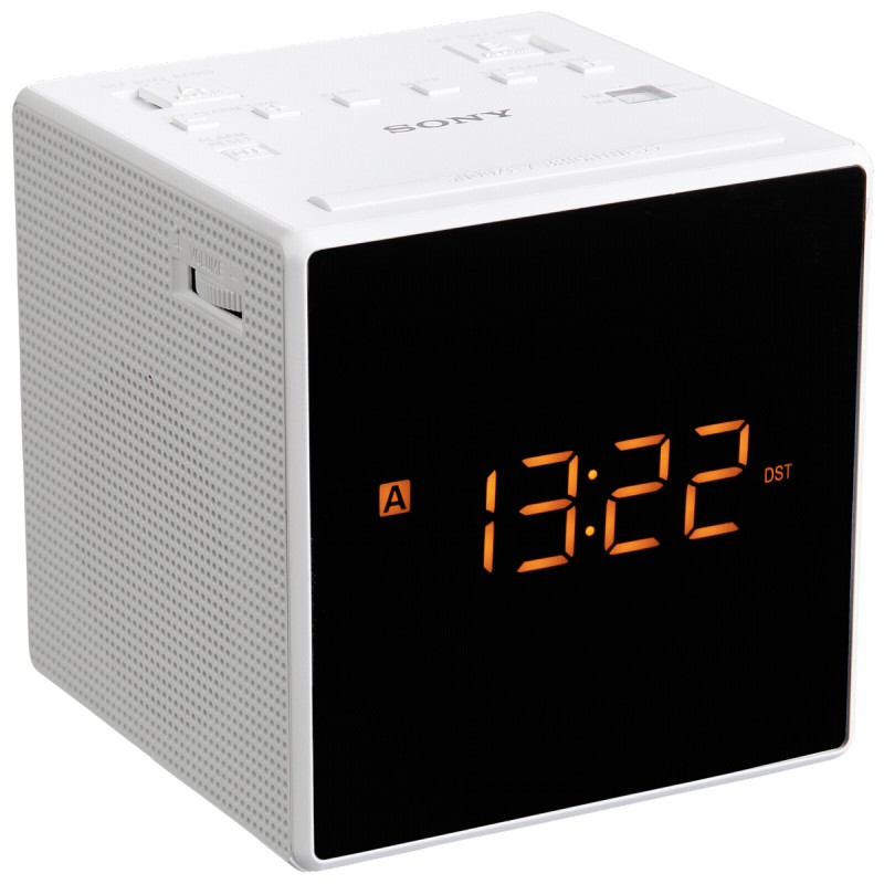 sony icf c1t white alarm clocks clock radios photopoint. Black Bedroom Furniture Sets. Home Design Ideas