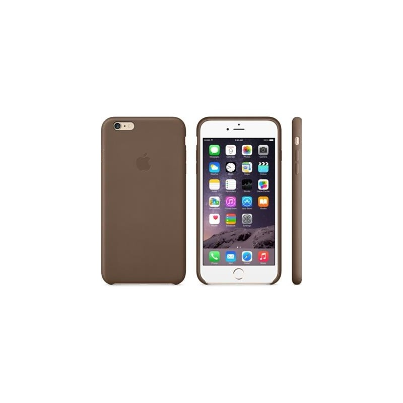 new arrival f28b4 f3741 Apple Leather Case iPhone 6 Plus, olive brown