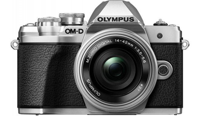 Olympus OM-D E-M10 Mark III + 14-42mm EZ Kit, серебряный