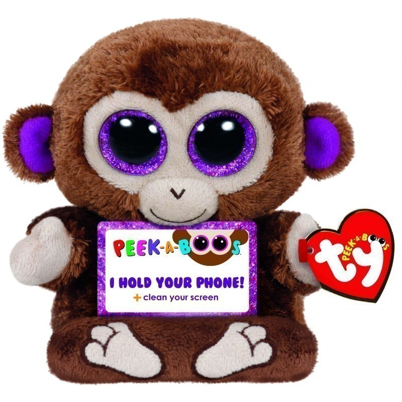 Peek A Boos Stuffed Toy Tablet Holder Monkey 14cm Plushies