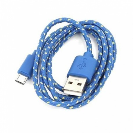 Omega kaabel USB - microUSB 1m, sinine/kollane (42315)