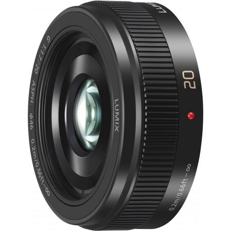Panasonic Lumix G 20mm f/1.7 II ASPH objektīvs, melns