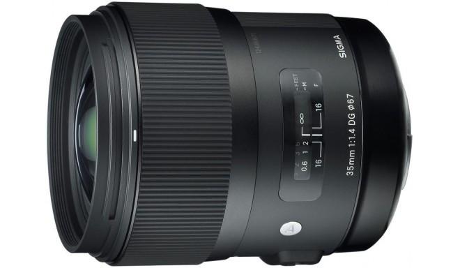 Sigma 35mm f/1.4 DG HSM Art objektiiv Canonile
